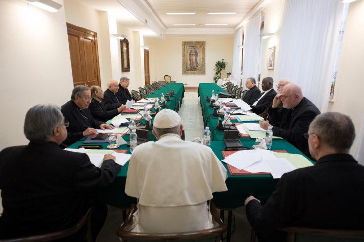 Réunion du conseil des cardinaux à Rome, du 11 au 13 décembre 2017