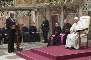 Le Pape François avec les ambassadeurs en poste au Vatican, le 8 janvier 2018
